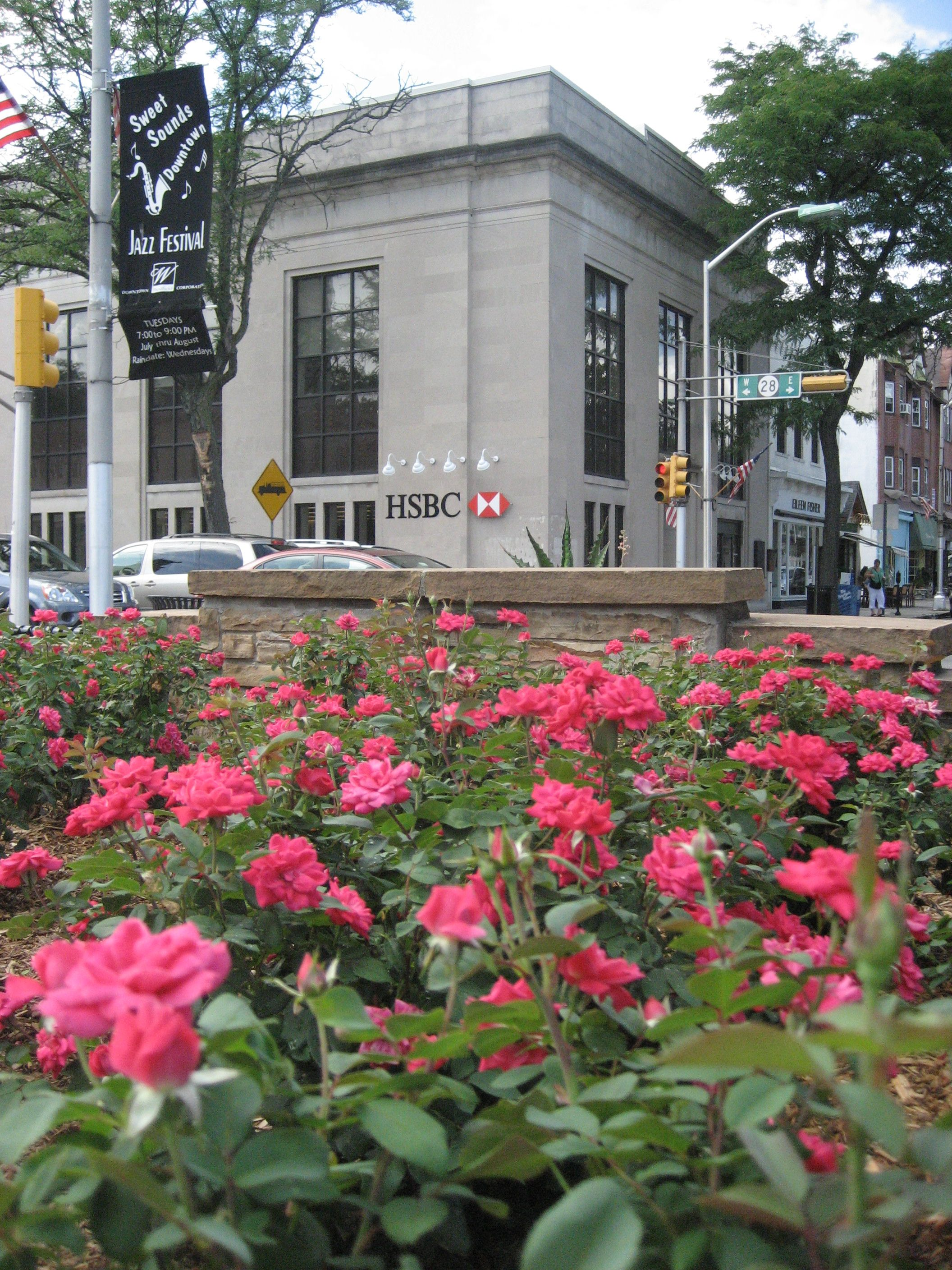 Rose Garden in front of the North Avenue train station