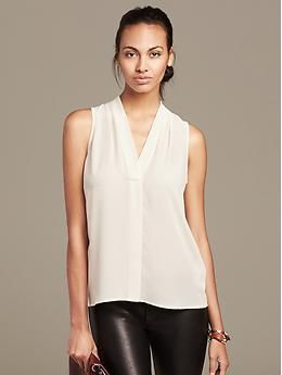 f9252463cf2610 Draped Sleeveless Blouse