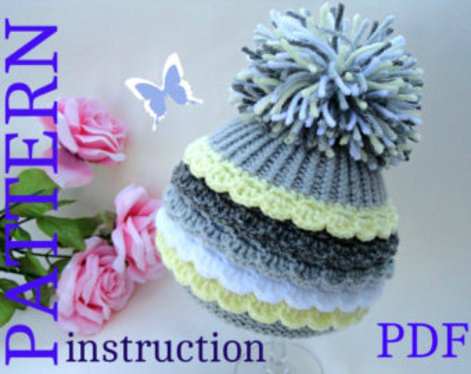 Baby Hat P A T T E R N Knitting Baby Hat Baby Patterns Crochet Baby ...