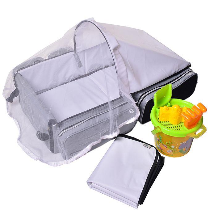 Bolsa maternidade para praia piscina que vira berço portátil e trocador f4283d42efb