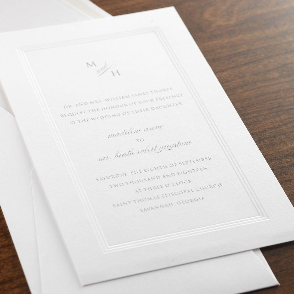 affinity wedding invitation by checkerboard ltd - Checkerboard Wedding Invitations