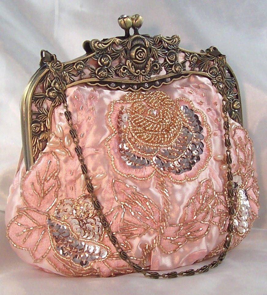 beaded vintage evening bag restoration