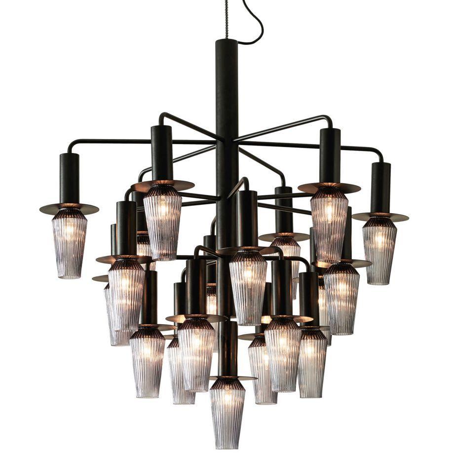 Ausgefallene Leuchten design by us harakiri kronleuchter schwarz smoke ausgefallene