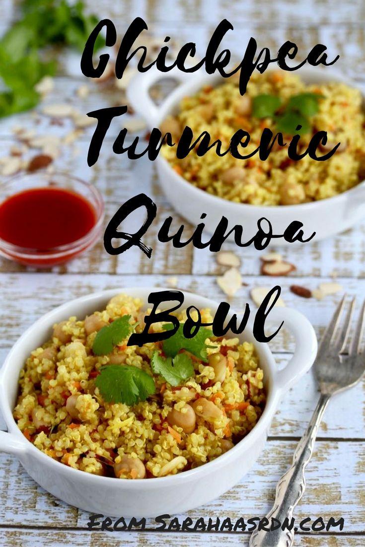 Chickpea Turmeric Quinoa Bowl