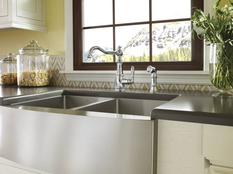 Moen | Elegant shapes pair well with organic accents. #kitchen ...