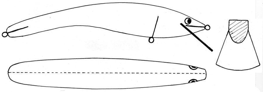 чертежи воблеров в картинках