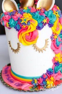 Unicorn Rainbow Cake With Images Rainbow Birthday Cake