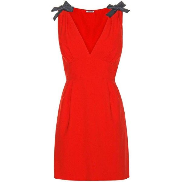 Miu Miu Crêpe Mini Dress (21.786.320 IDR) ❤ liked on Polyvore featuring  dresses a5331ab33e4f5
