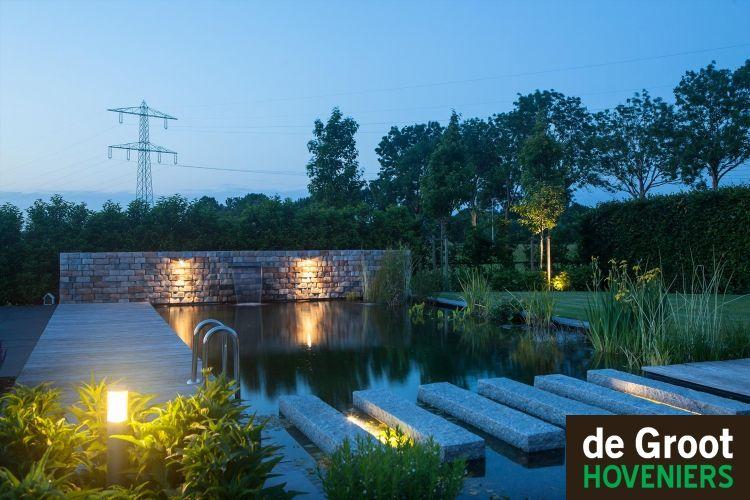 Projectfoto s de groot hoveniers tuinverlichting
