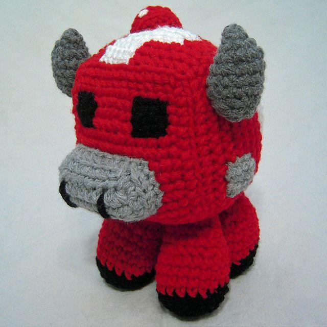 Minecraft: Mooshroom pattern by i crochet things | Granjas, Pequeños ...