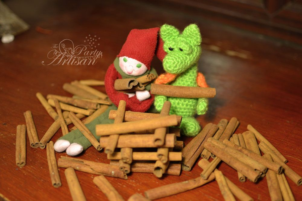 Building a cinnamon stick tower