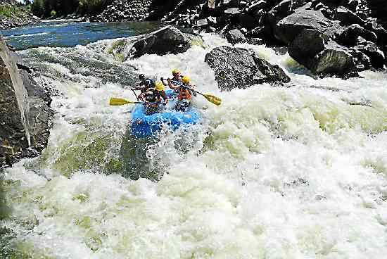 Photos courtesy of The Highwayman Whitewater rafting on the Colorado River is a popular recreational activity in Gore Canyon west of Kremmling.