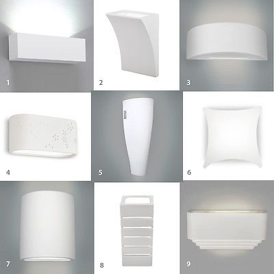 Single Pair Of Led Indoor White Ceramic Wall Light Fittings Uplighter Lights Ceramic Wall Lights Wall Light Fittings Light Fittings