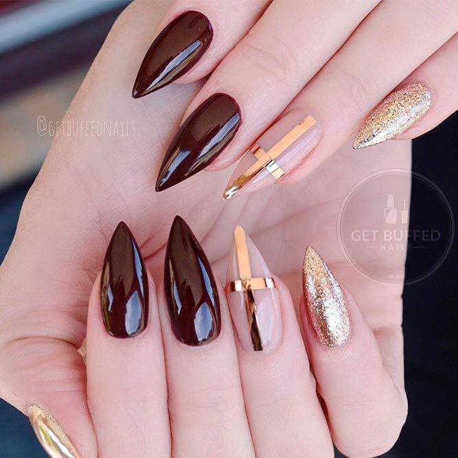 Fall Nail Colors For Ideal Nail Art Naildesignsjournal Com Dark Nails Gorgeous Nails Stiletto Nails