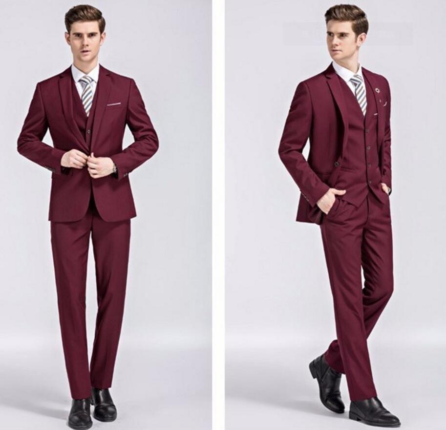 Men Wedding Suit White Groom Tuxedos For Men Slim Fit Mens Dress ...