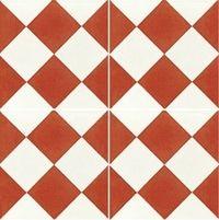 Carreau De Ciment Damier Rouge Et Blanc 20x20 Cm Carreau De