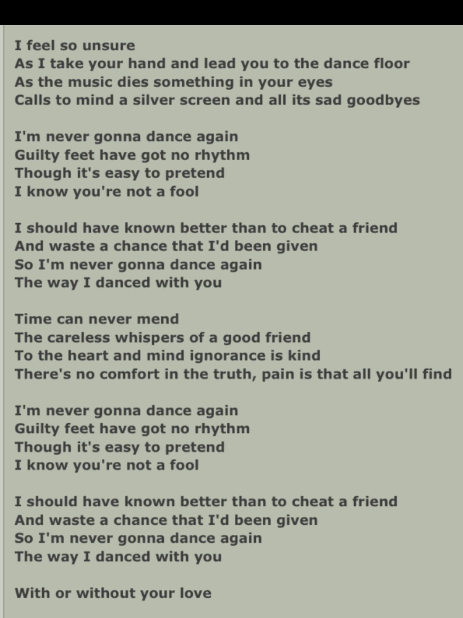 Part Of The Song Careless Whispers By George Michael Golden Oldies Songs George Michael Lyrics