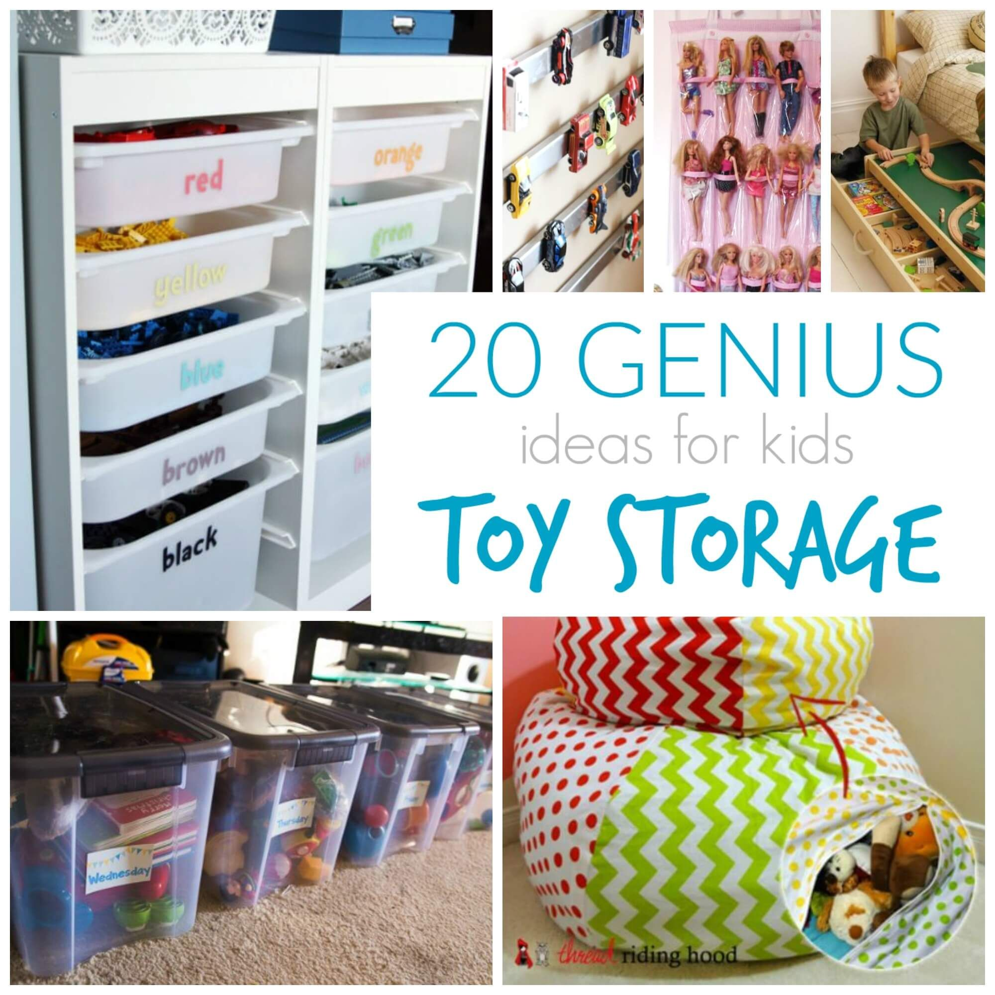 Easy Storage Idea: 7+1 Toy Storage Ideas 2019 DIY Plans In A Small Space