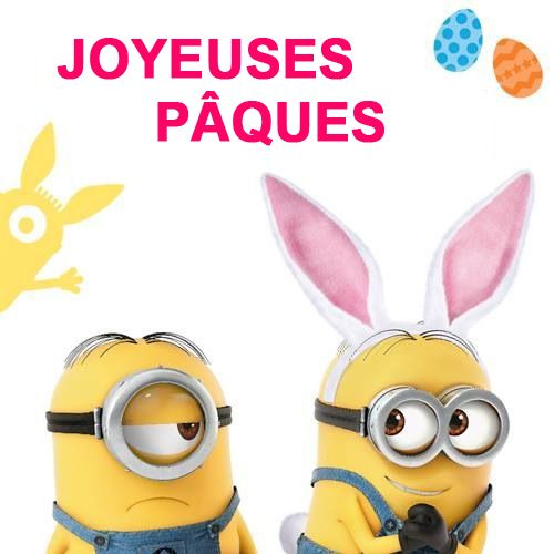 #Pâques | Minion humour, Joyeuses pâques humour, Image minions