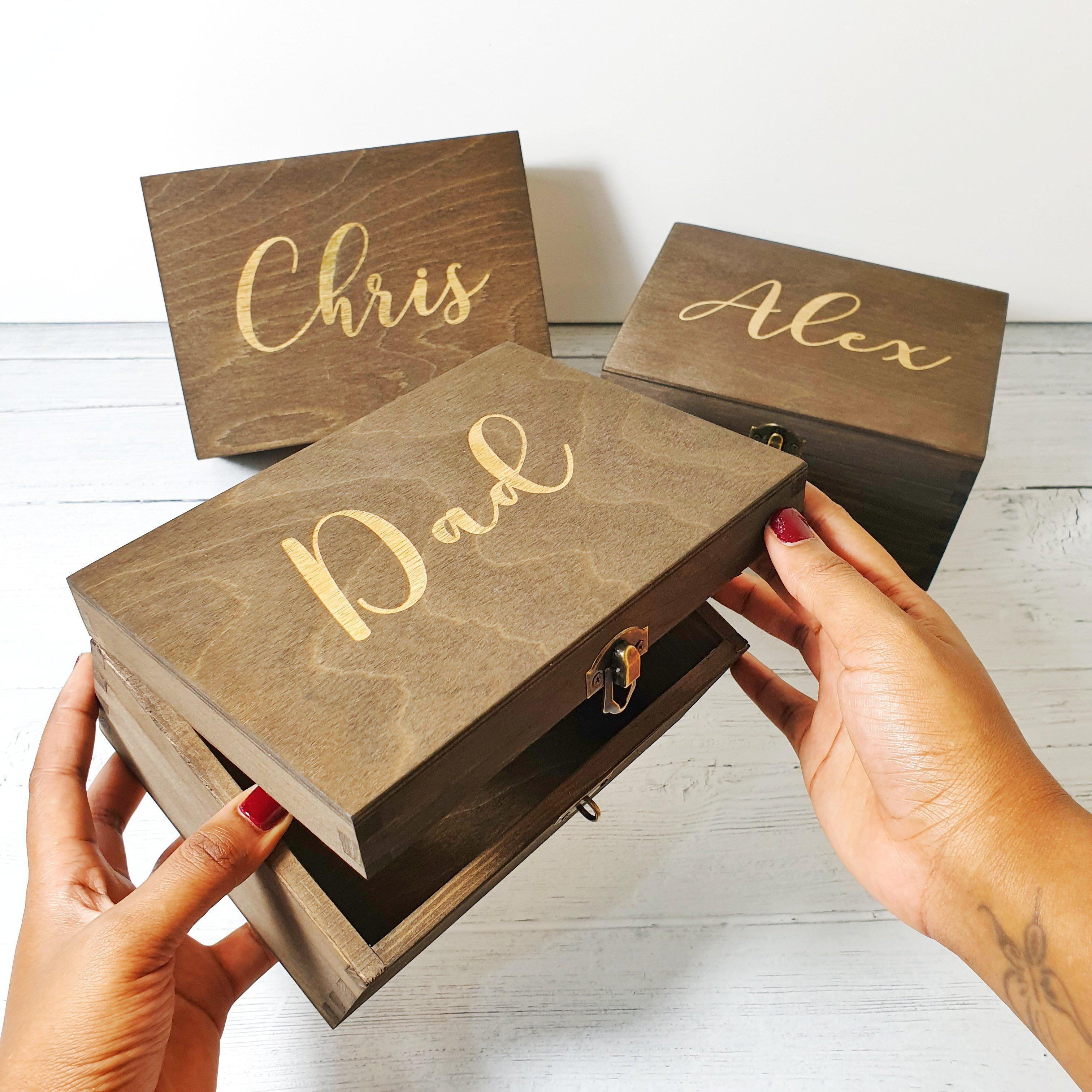 Engraved best man groomsman box i wedding gift box in 2020