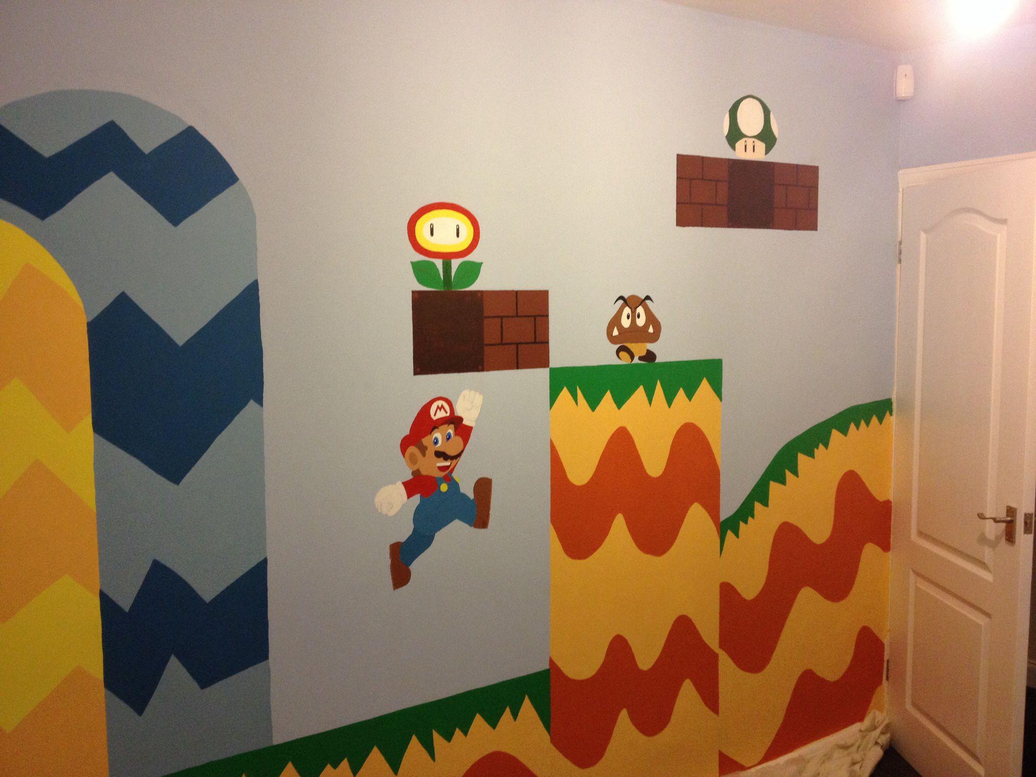 Mario #Mural #Bedroom #Nintendo #Painting #Kids #Wall #Art ...