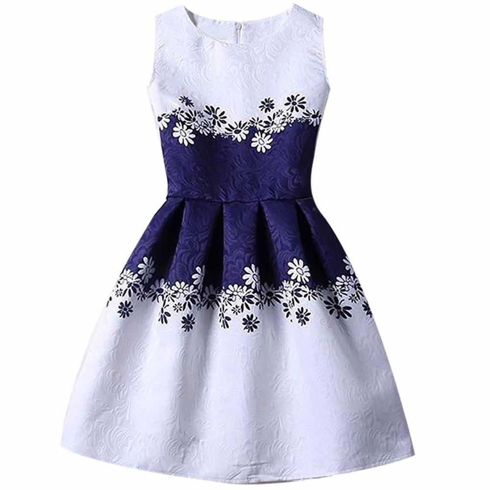 d1cdd99e02b8 2018 New Fashion Summer Flower Girls Clothes 6 7 8 Yrs Birthday Children  Clothing Wedding Party Kids Dresses Girl Princess Dress.