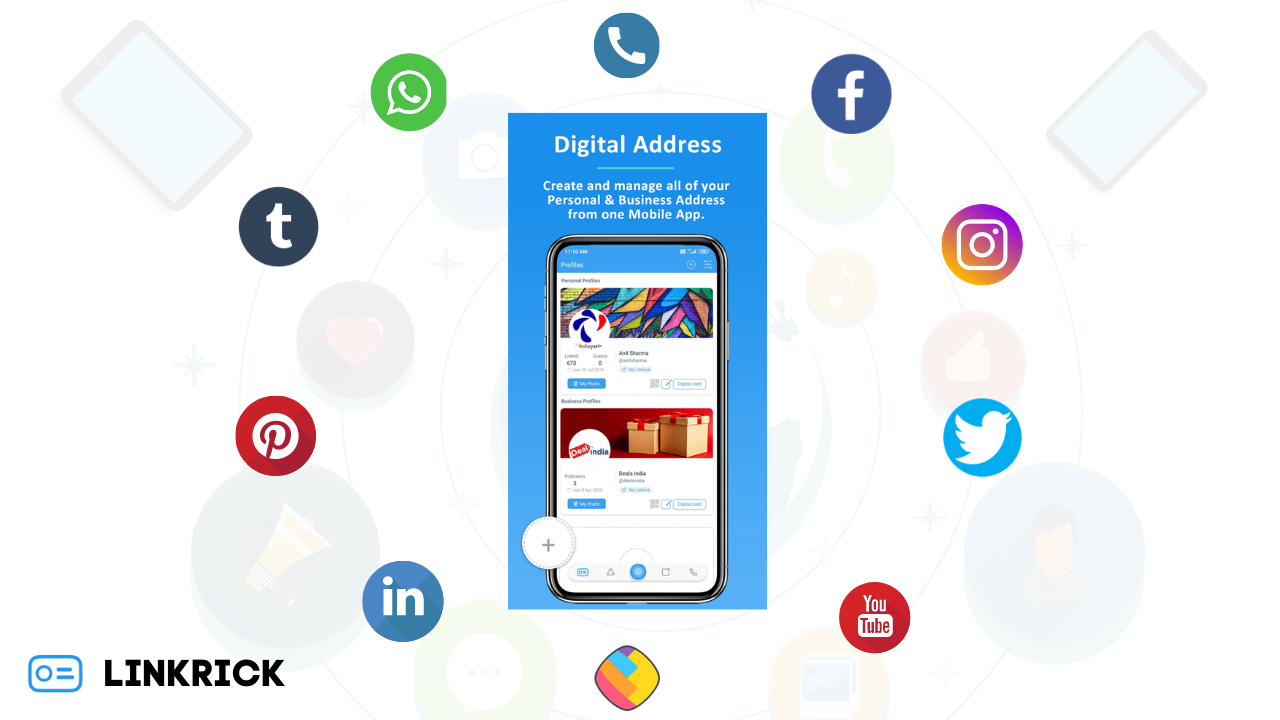 Digital Address Digital Business Card Digital Mobile App
