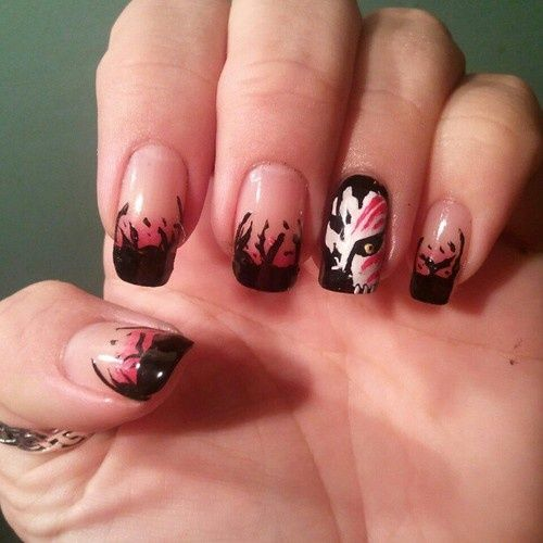 bleach nail art | bleach nail art .... sadly no tutorial | Beauty - Bleach Nail Art Bleach Nail Art. Sadly No Tutorial Beauty