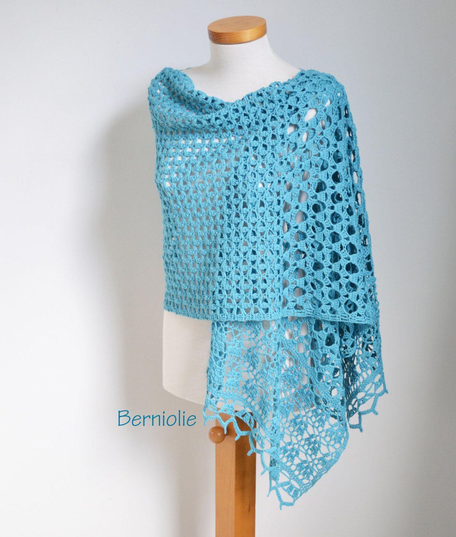 NOOR Crochet shawl pattern pdf by BernioliesDesigns on Etsy | Haken ...