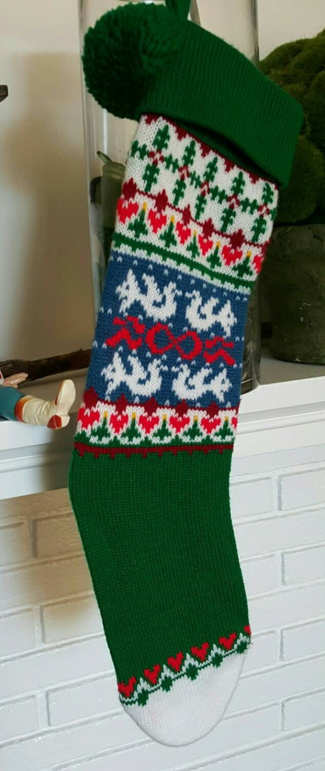 Knit Christmas Stocking \