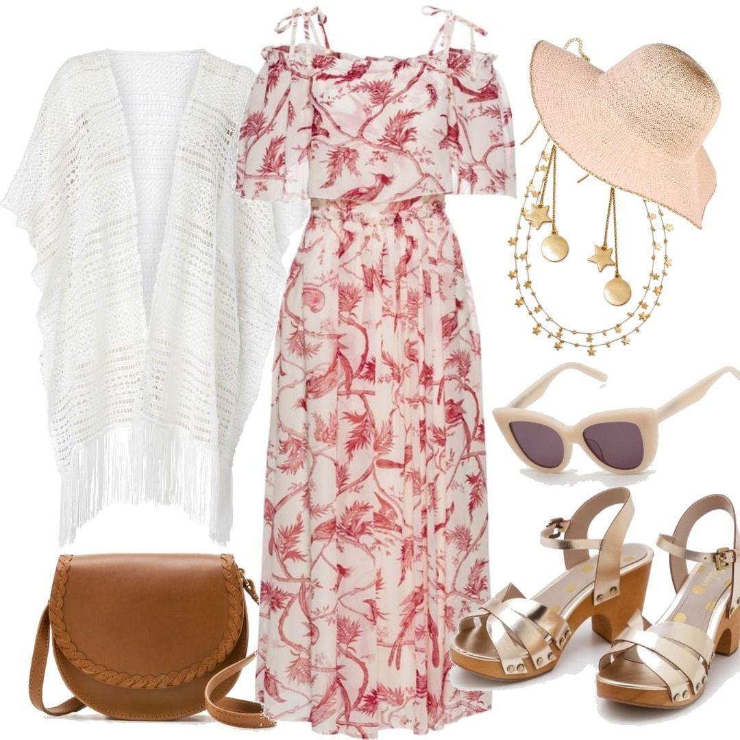 Kleid halber Arm in weiß von bonprix für Damen zum Nachshoppen auf