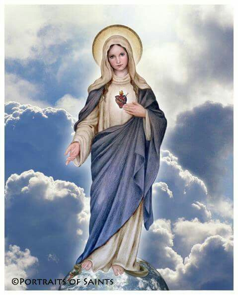 Inmaculado Corazon De Maria Arte Catolico Virgen Maria Dibujo