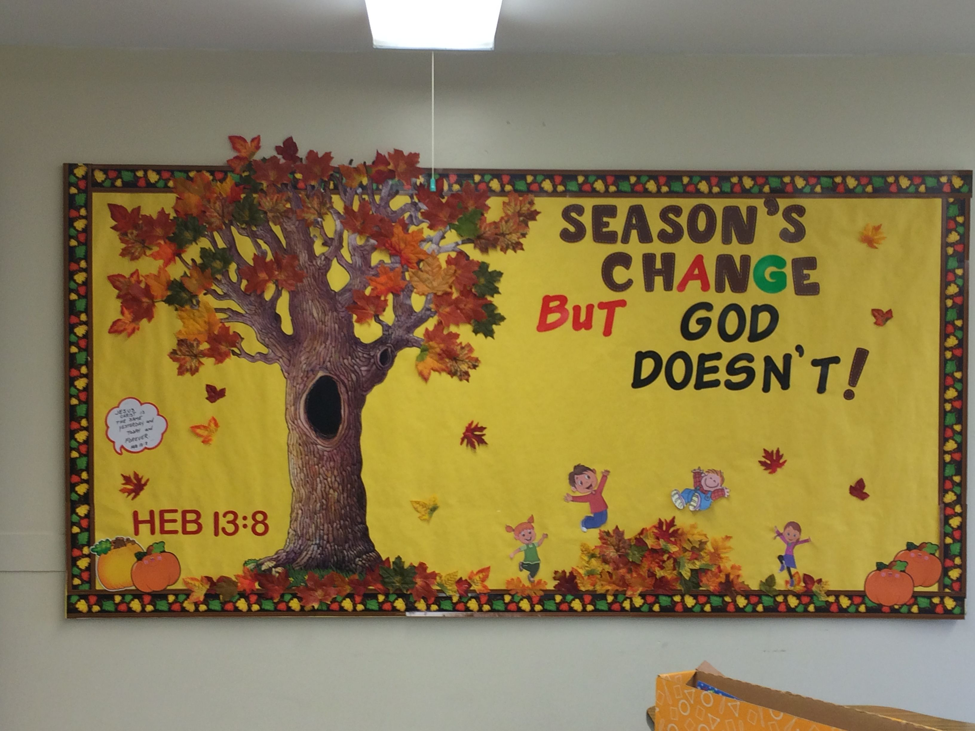 Pin By Luann Peterson On Classroom Bulletin Boards Christian Bible Fall