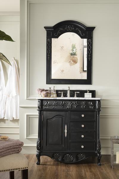 St James 36 Martin Empire Black Bathroom Vanity