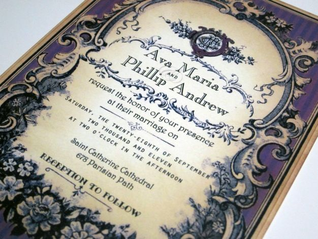 Vintage Wedding Invitations Ideas Victorian Wedding Invitations,