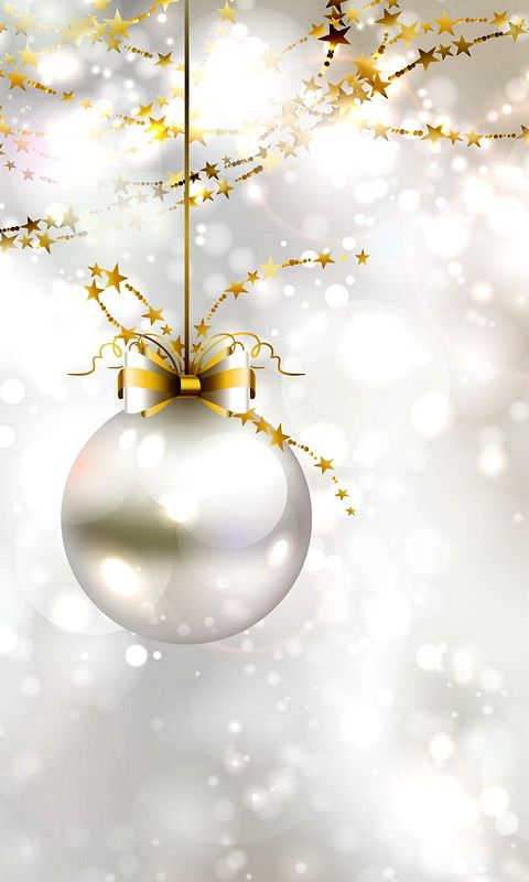 download 480x800 silver new year ball cell phone wallpaper category holidays