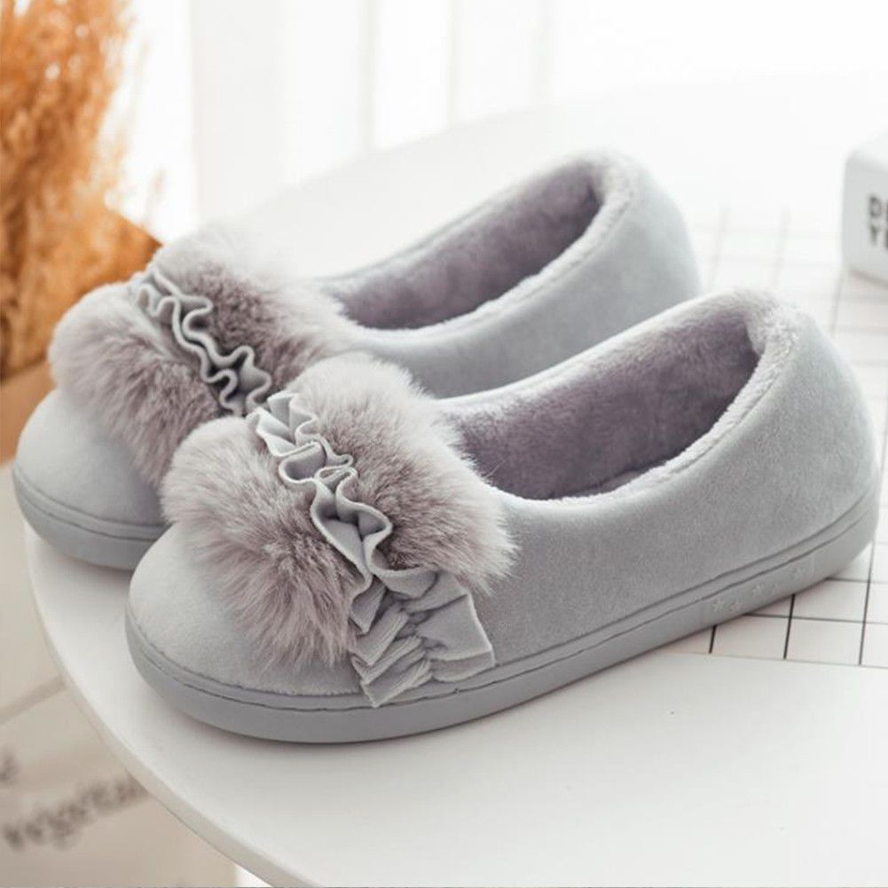 d140a9b78de 3 Colors Women Ladies Home Floor Soft Women Winter Indoor Slippers Fluffy  Shoes