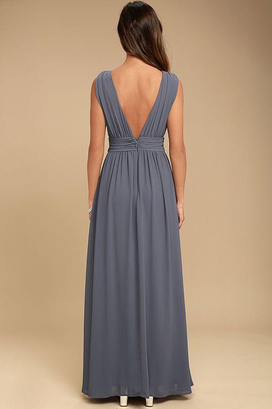 825dc617e8 Heavenly Hues Denim Blue Maxi Dress