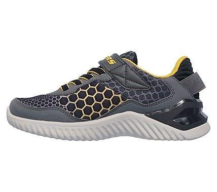 c91e3b94a6a66 Skechers Kids' Ultrapulse Rapid Shift Sneaker Pre/Grade School Shoes ( Charcoal/Black/Gold)