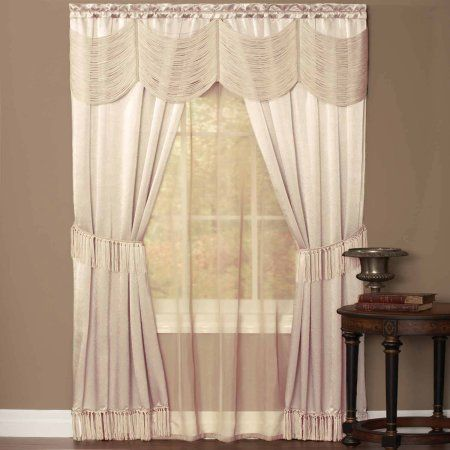 Free Shipping On Orders Over 35 Buy Halley Quot Window In A Bag Quot Complete 5 Piece One Rod Set At Curtains Rod Pocket Curtain Panels Rod Pocket Curtains