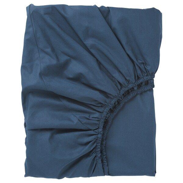 Ullvide Sabana Bajera Ajustable Azul Oscuro 140x200 Cm Ropa De