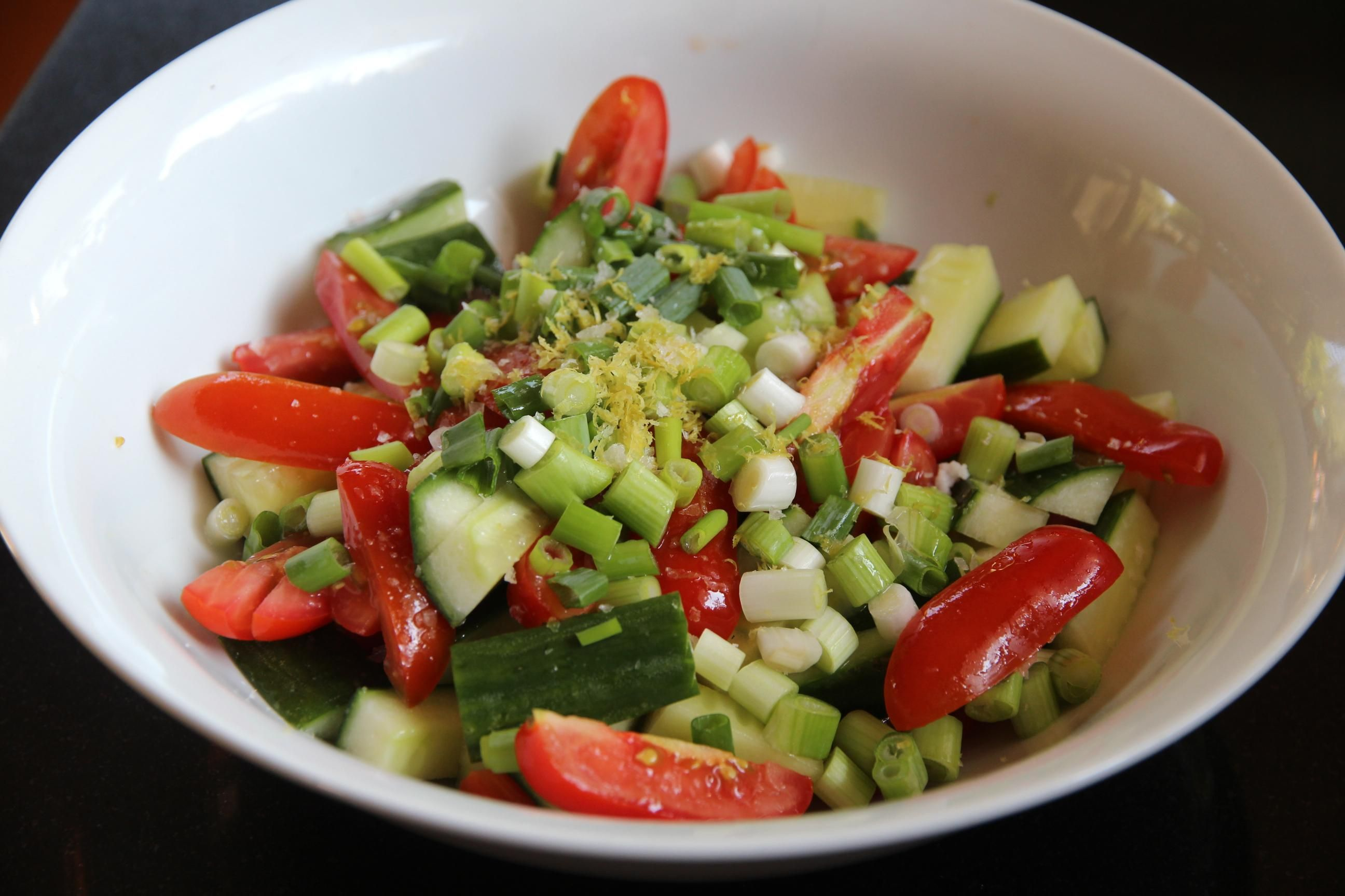 East Indian Chopped Vegetable Salad Recipe Low