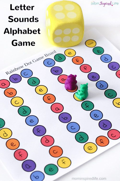 Printable Letter Sounds Alphabet Board Game | Fun Learning for Kids ...