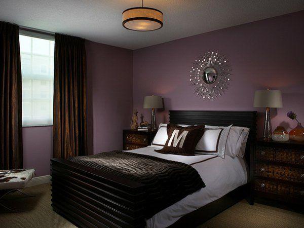 Violett-und-braun-Schlaffzimmer HomeSweetHome Pinterest - wohnzimmer lila braun
