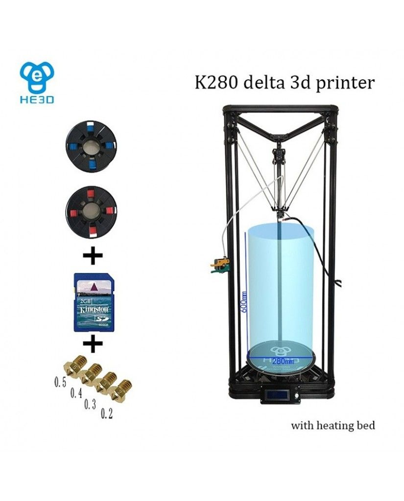 He3d K280 Mega Delta 3d Printer Kit