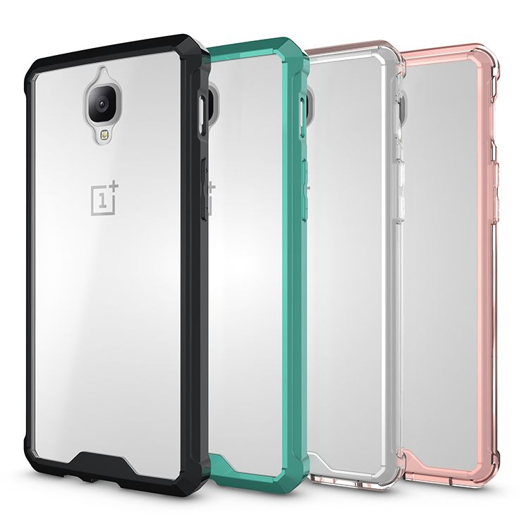 Oneplus 3t Case Clear Crystal Back Panel Tpu Side Premium Oneplus 3 Hard Hybrid Protective Transparent Case For One Plus Acrylic Phone Phone Phone Case Cover
