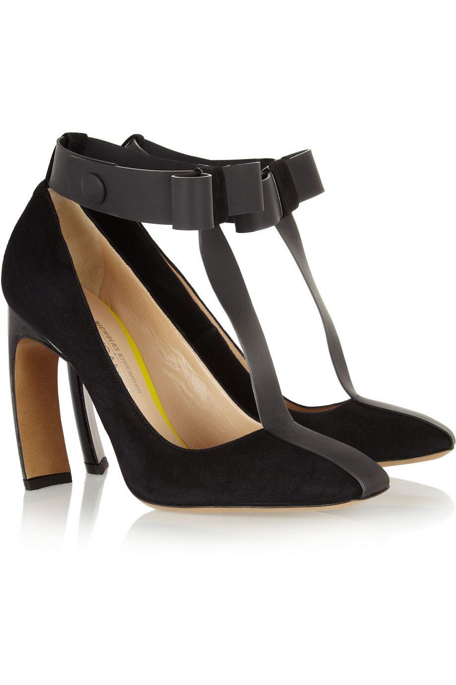Nicholas Kirkwood Woman Lace-up Suede And Mesh Sandals Black Size 38 Nicholas Kirkwood HivVSvwUg