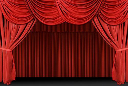 Clipart - Red stage theater velvet drapes. Stock Illustration gg69833988 -  GoGraph