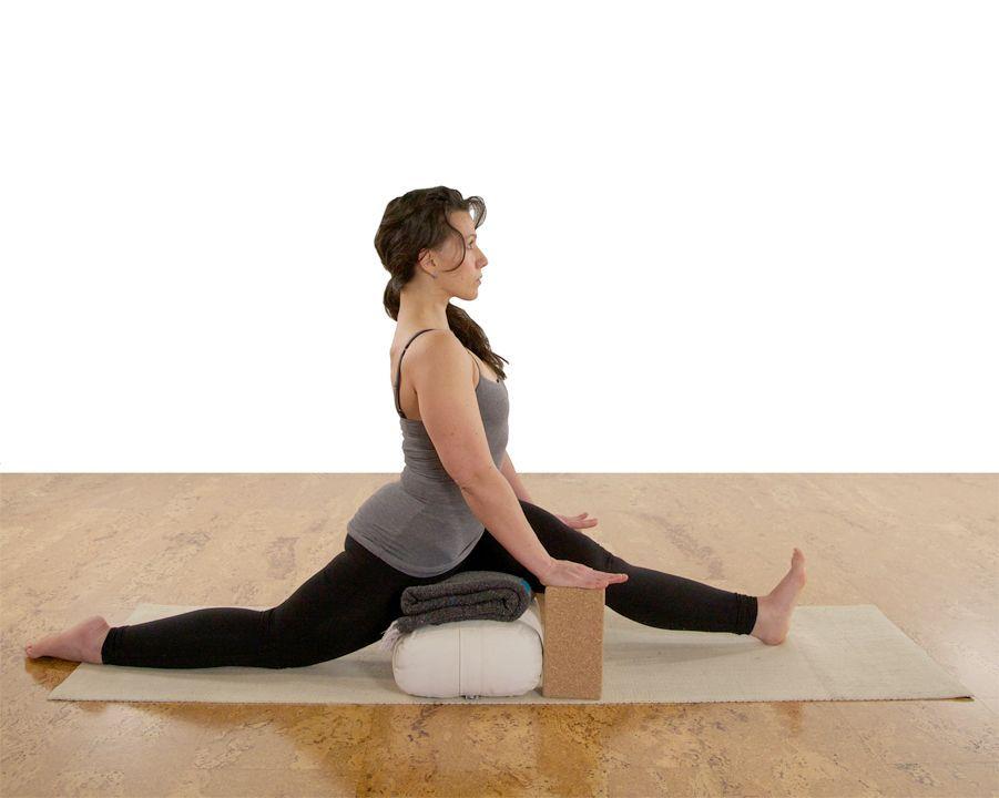 Yoga Teacher Central Releasing Struggle In Hanumanasana Anjaneyasana Yoga Asanas Yoga Props Iyengar Yoga