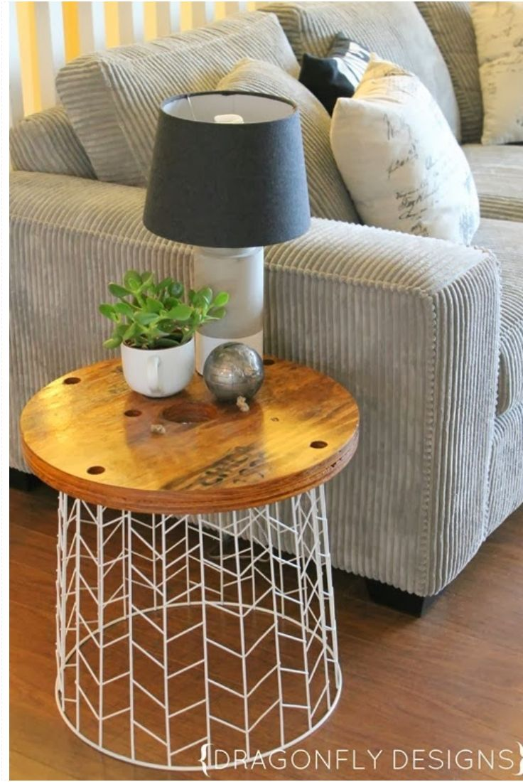 diy end tables on pinterest refurbished end tables. Black Bedroom Furniture Sets. Home Design Ideas